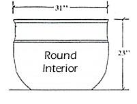 Round planter P 31 23 MED